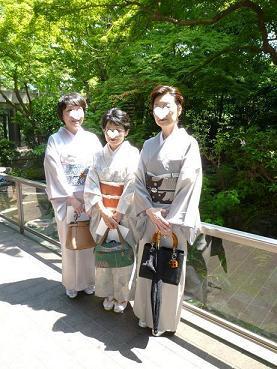 お客さまとお能の会へ・立体的な刺繍の麻の名古屋帯_f0181251_18185999.jpg