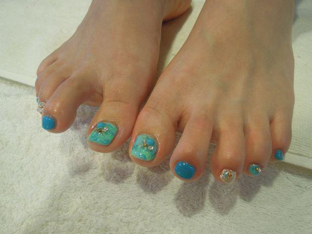 Marble Foot Nail_a0239065_13454396.jpg