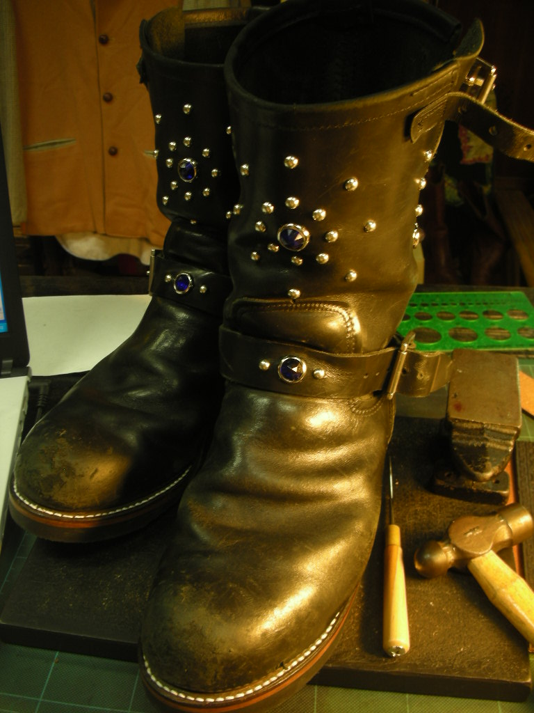 RAWHIDE Studded work for Red Wing 2268_c0187684_14231047.jpg