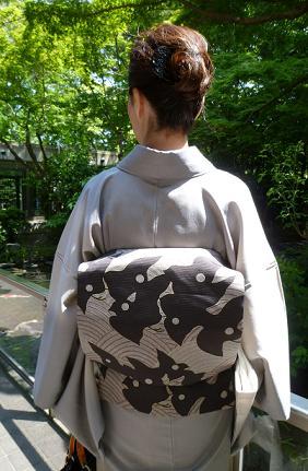 お能の会、皆様の帯周り・立体的刺繍帯コーディネイト。_f0181251_11293751.jpg
