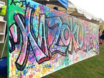 KAZOKU FES.2015 graffiti corner by AZI。_f0182998_21535682.jpg