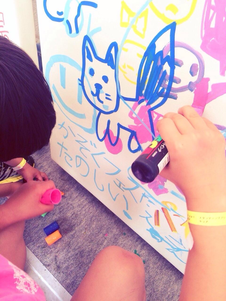 KAZOKU FES.2015 graffiti corner by AZI。_f0182998_21544175.jpg