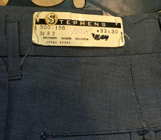 60\'s~デッドストック STEPHENS PANTS 在庫状況⑤_c0144020_14261153.jpg
