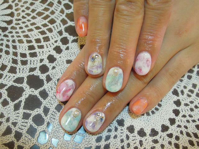 Marble Nail_a0239065_17575923.jpg