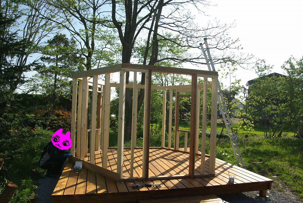 小屋作り・窓ちょっと贅沢だよ編。_a0107184_1025758.jpg