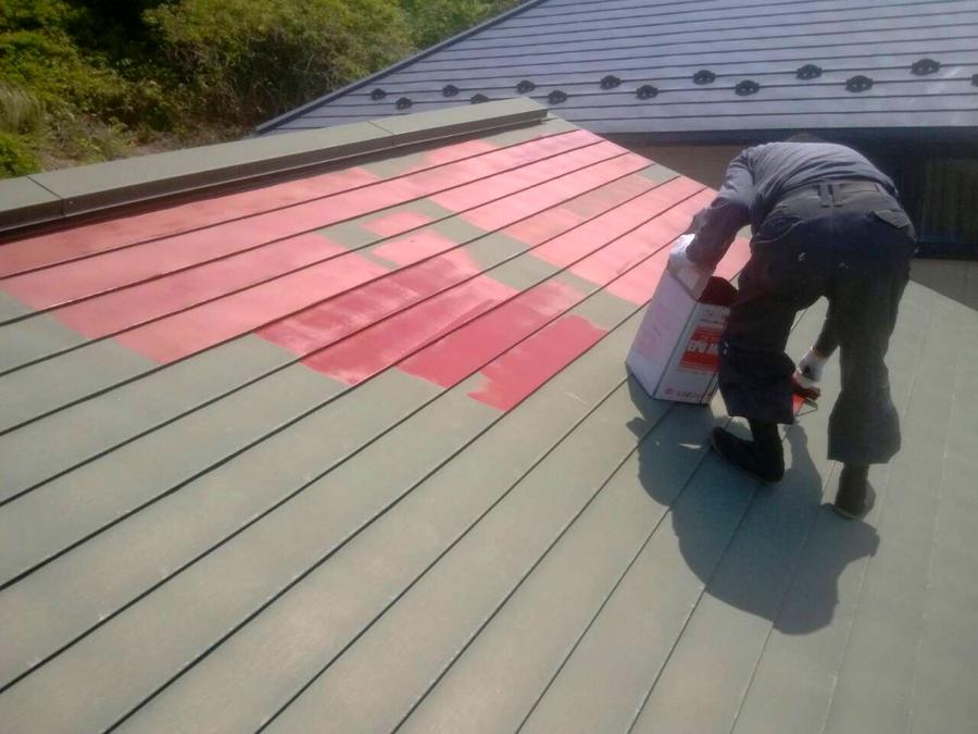 「桜台3丁目の家」 屋根の塗装_f0150893_19190674.jpg