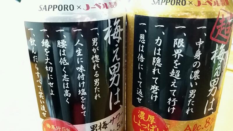 超 梅ぇ男     サッポロビール×ノーベル製菓さま_d0092901_23282324.jpg