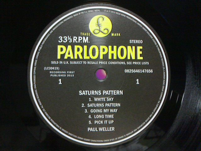 昨日到着レコ 〜 Saturns Pattern / Paul Weller_c0104445_21381536.jpg