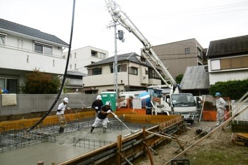 基礎工事 コンクリート打設_f0205367_10433224.jpg