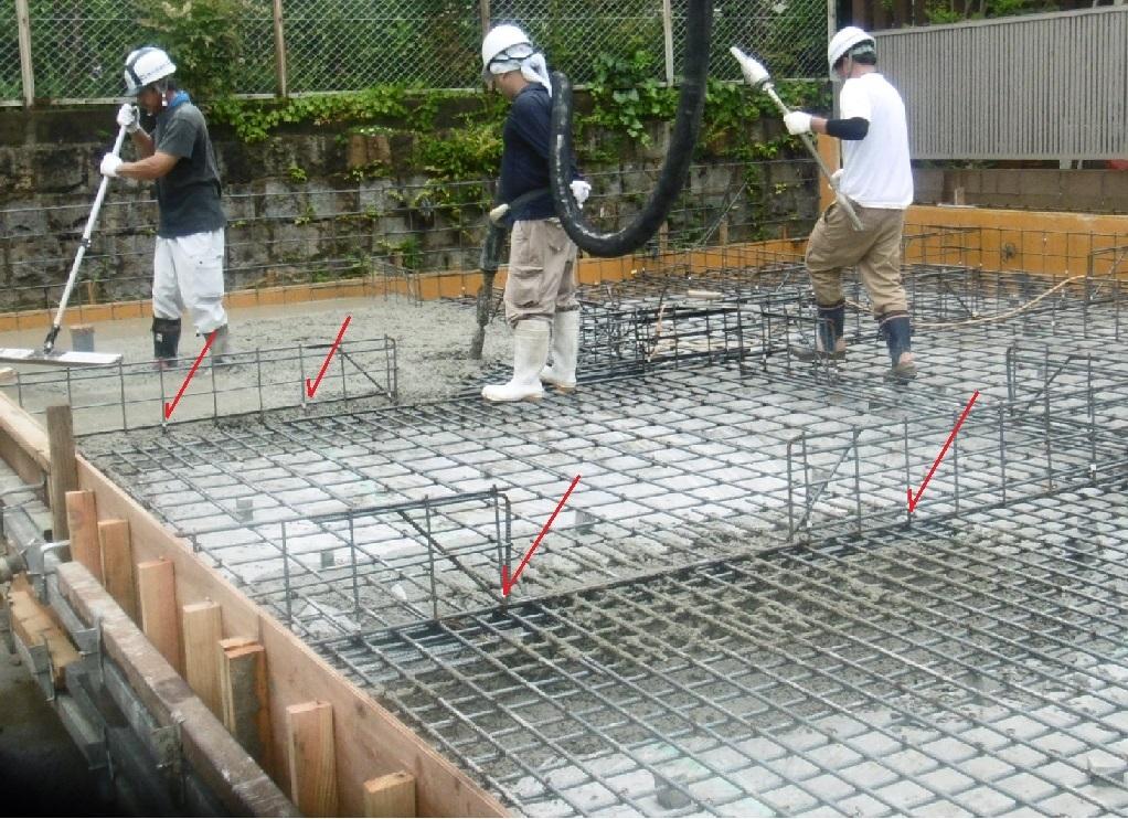 基礎工事 コンクリート打設_f0205367_13373049.jpg