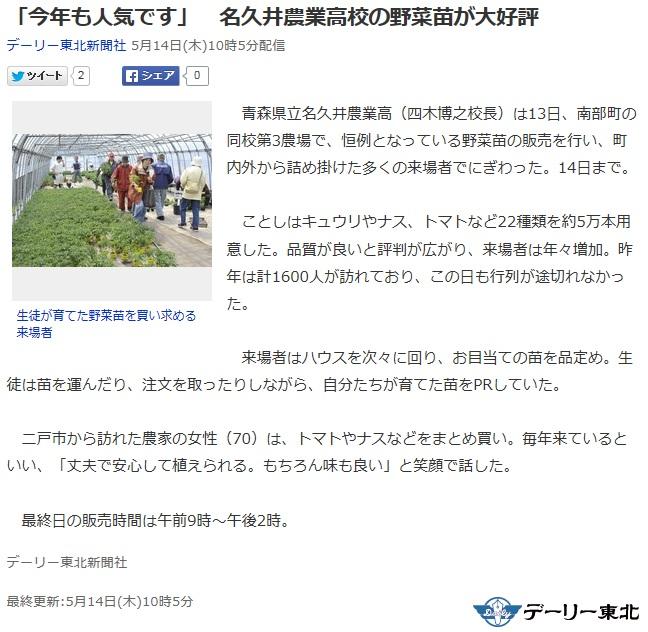 バイクで帰青!【5/13】 八戸・八幡・名農・田子・五戸_d0061678_1448458.jpg