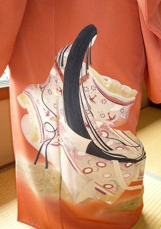 葵祭にぴったりのお姫様の着物にアンティークの帯と小物。_f0181251_16285835.jpg