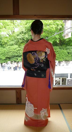 葵祭にぴったりのお姫様の着物にアンティークの帯と小物。_f0181251_163022.jpg