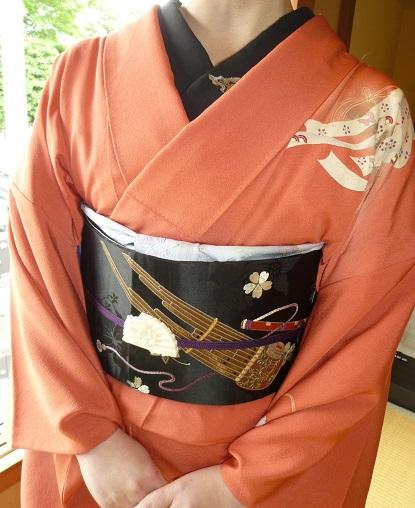 葵祭にぴったりのお姫様の着物にアンティークの帯と小物。_f0181251_16341869.jpg