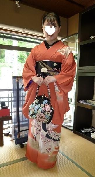 葵祭にぴったりのお姫様の着物にアンティークの帯と小物。_f0181251_16371099.jpg