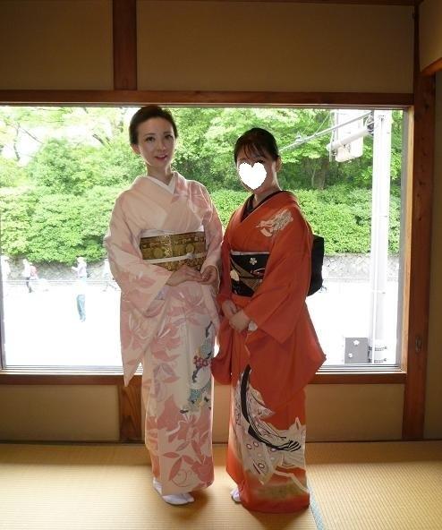 葵祭にぴったりのお姫様の着物にアンティークの帯と小物。_f0181251_1643842.jpg