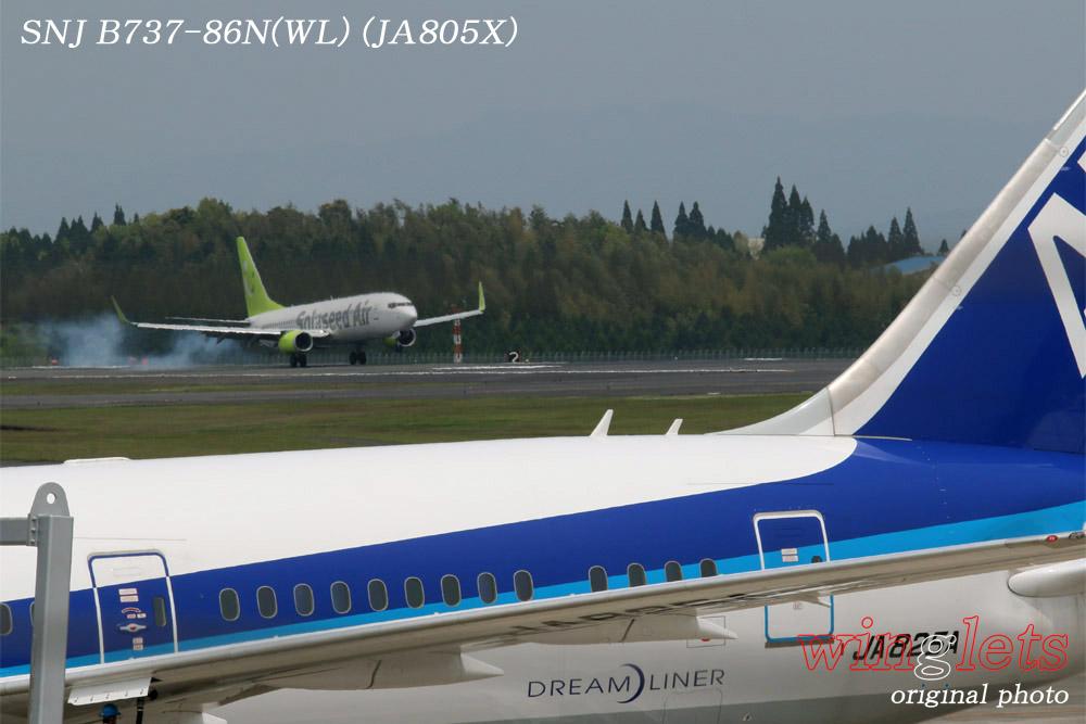 '15年 鹿児島空港レポート・・・SNJ/JA805X_f0352866_2313503.jpg