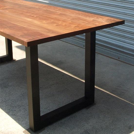 ウォールナット、鉄脚ダイニングテーブル_e0115686_15502100.jpg