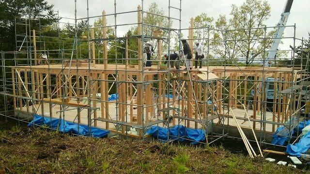 いよいよくじゅうのモデルルーム建設が始まりました。_e0266187_1523162.jpg