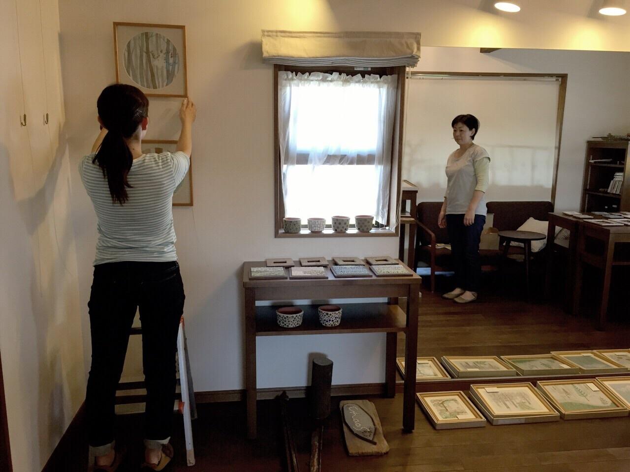 色えんぴつ画とタイルアート展 〜北の森への招待状〜_a0322702_17474330.jpg