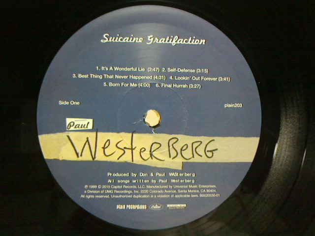 昨日到着レコ 〜 Suicaine Gratifaction / Paul Westerberg_c0104445_2343683.jpg
