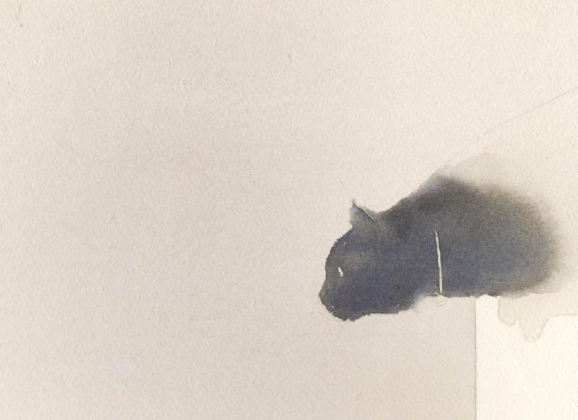 猫 水彩画 2枚目〜_f0176370_17221383.jpg