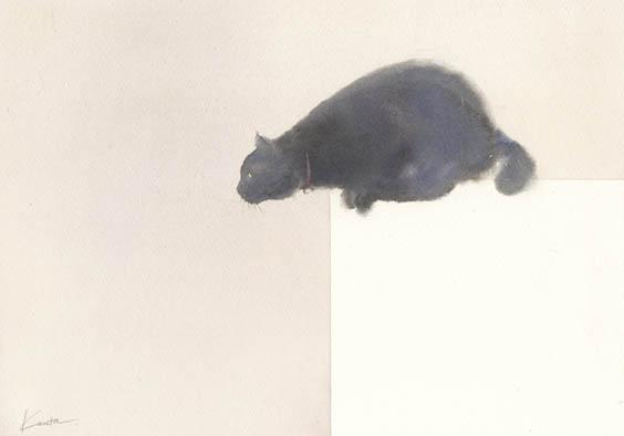 猫 水彩画 2枚目〜_f0176370_17291020.jpg