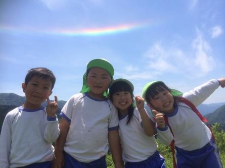 彩雲が見えたラッキーな親子遠足!!_f0101226_09231554.jpg