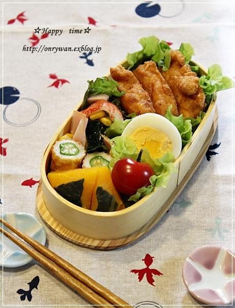 スパイシーチキン弁当とバラ☆アンジェラ♪_f0348032_18285971.jpg