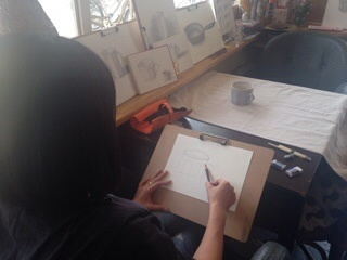 【活動レポート】2015年5月23日 タマコチ美術クラブ「デッサンミニレッスン」_f0224207_17033819.jpg