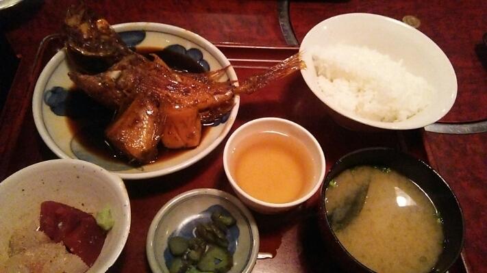 あらかぶの煮魚定食@ひょうたん(博多祇園)_c0212604_1771119.jpg