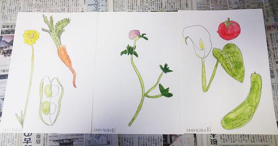 きんこ・色鉛筆画ワークショップ@マチコミ図書室_f0043592_824248.jpg
