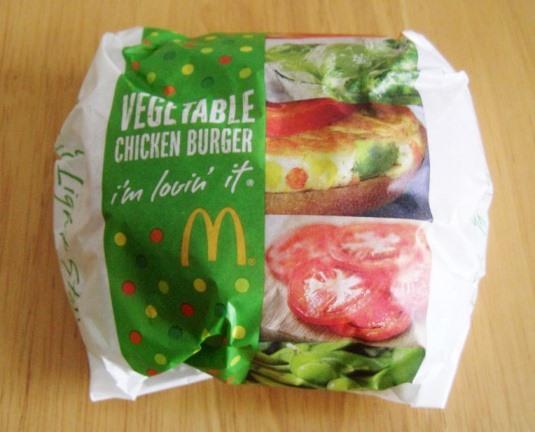 【マック】ベジタブルチキンバーガー~新作なんだけど。。_b0081121_6442798.jpg