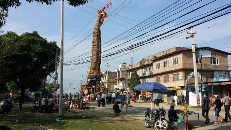 ネパール報告:2日目、山車_e0155231_1254583.jpg