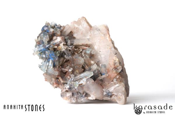 アホイト・パパゴアイトinクォーツ原石(南アフリカ産)_d0303974_23513762.jpg