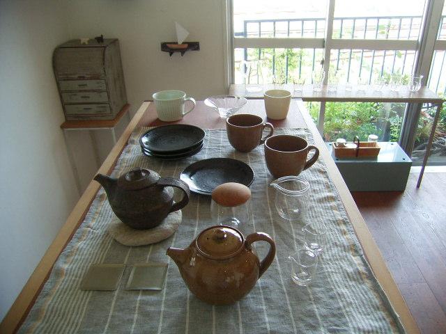 竹本さんのお皿と店内_b0206421_1633840.jpg