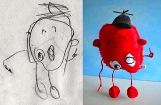 子どもの描いた絵がぬいぐるみに!_b0325640_133819100.jpg