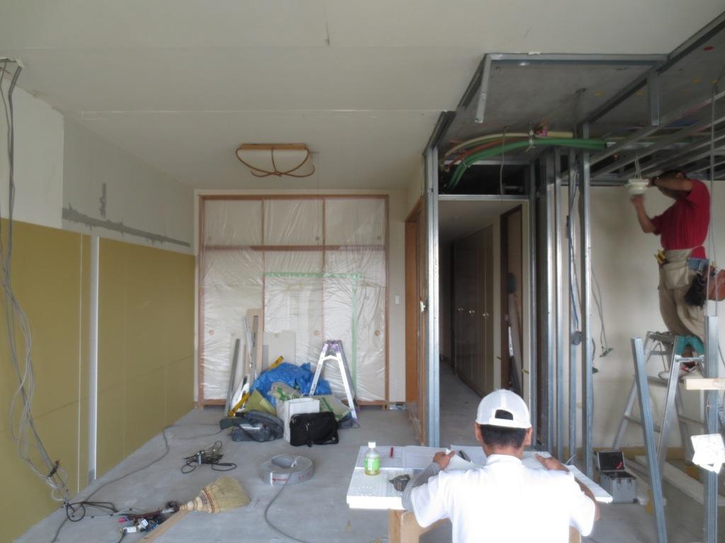 弦巻の家改修 壁下地工事_c0310571_06434969.jpg