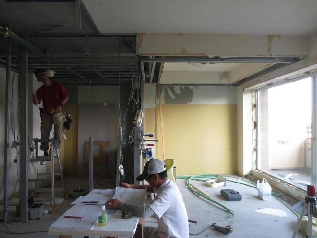弦巻の家改修 壁下地工事_c0310571_06440180.jpg