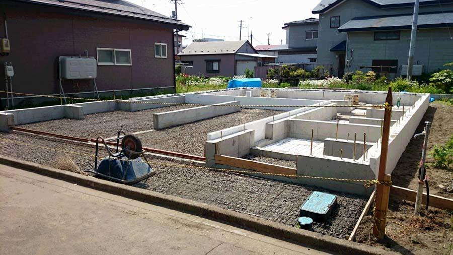 H様邸「栄町の家」土間コン打設準備_f0150893_14102161.jpg