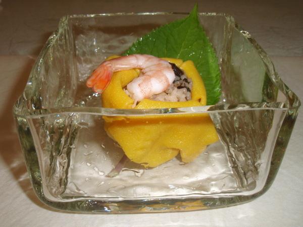 お昼ごはんに   松岡ようじガラス小鉢で_b0132442_15021559.jpg