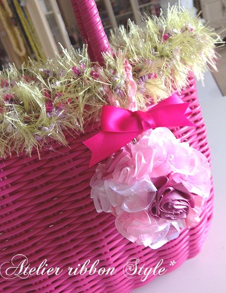 Ruffed mini Ball Bouquet*Pink_f0017548_09295754.jpg