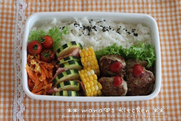 ミニハンバーグ弁 ✿ 簡単ビビンバ丼♪_c0139375_1052664.jpg