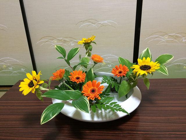 5/26のお花:ひまわりとガーベラ_b0042538_19583322.jpg