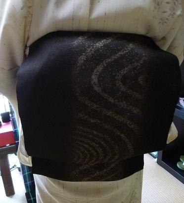 単衣のぜんまい紬のお客様・シャンソンボサノバライブへ。_f0181251_13441545.jpg