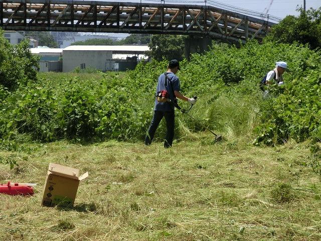 暑さに負けず! 本年度最初の滝川の草刈り清掃_f0141310_729383.jpg