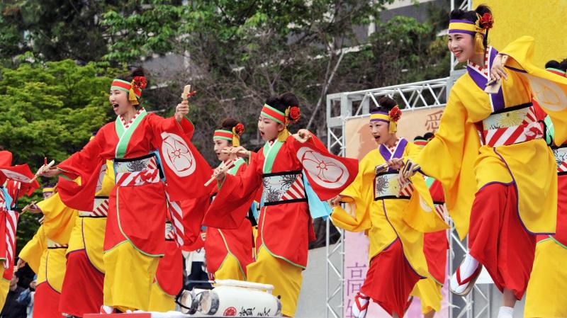 四国の祭り 2015 濱町 花神楽 / よさこい_d0246136_23341454.jpg