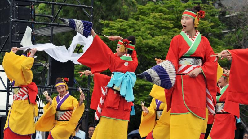 四国の祭り 2015 濱町 花神楽 / よさこい_d0246136_23353981.jpg