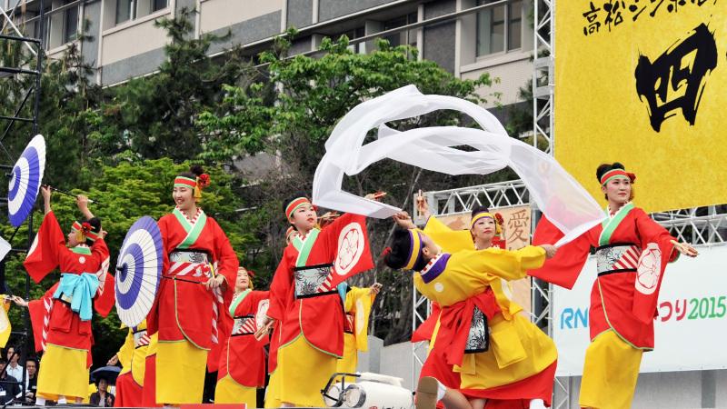 四国の祭り 2015 濱町 花神楽 / よさこい_d0246136_23355356.jpg