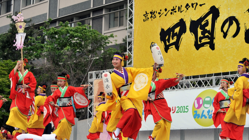 四国の祭り 2015 濱町 花神楽 / よさこい_d0246136_23361662.jpg